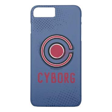 Justice League   Brush & Halftone Cyborg Symbol iPhone 8 Plus/7 Plus Case