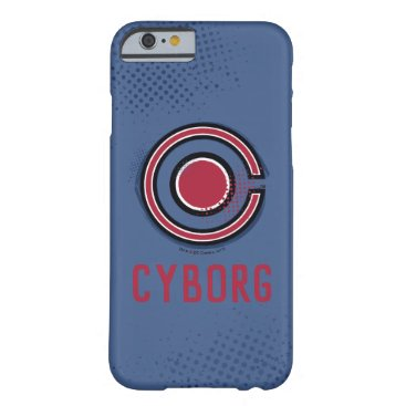 Justice League   Brush & Halftone Cyborg Symbol Barely There iPhone 6 Case