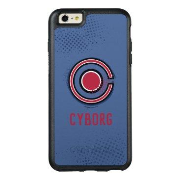Justice League   Brush & Halftone Cyborg Symbol OtterBox iPhone 6/6s Plus Case