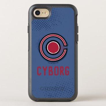 Justice League   Brush & Halftone Cyborg Symbol OtterBox Symmetry iPhone 8/7 Case