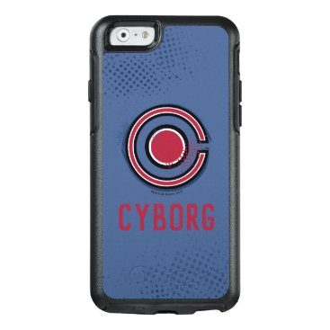 Justice League   Brush & Halftone Cyborg Symbol OtterBox iPhone 6/6s Case