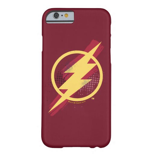 Justice League | Brush & Halftone Flash Symbol Barely There iPhone 6 Case