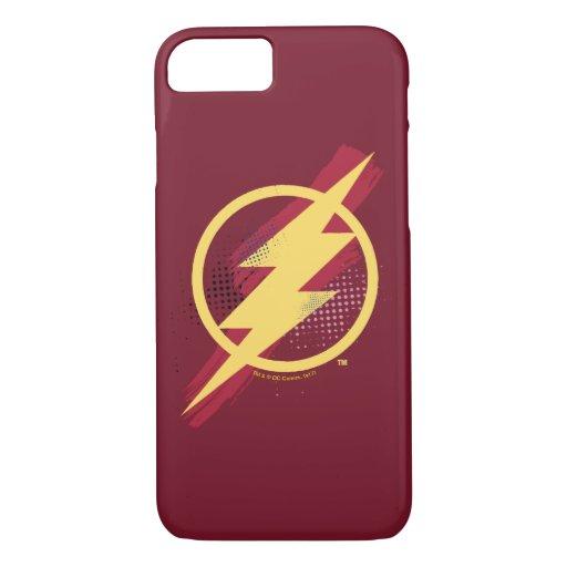 Justice League | Brush & Halftone Flash Symbol iPhone 8/7 Case