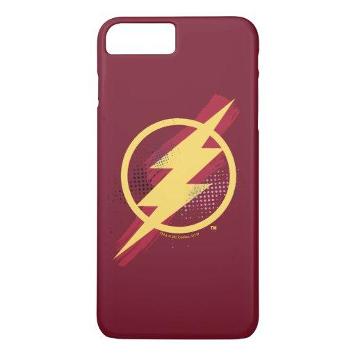 Justice League | Brush & Halftone Flash Symbol iPhone 8 Plus/7 Plus Case
