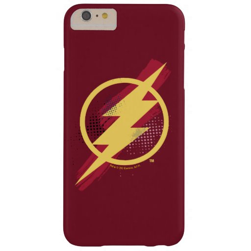 Justice League | Brush & Halftone Flash Symbol Barely There iPhone 6 Plus Case