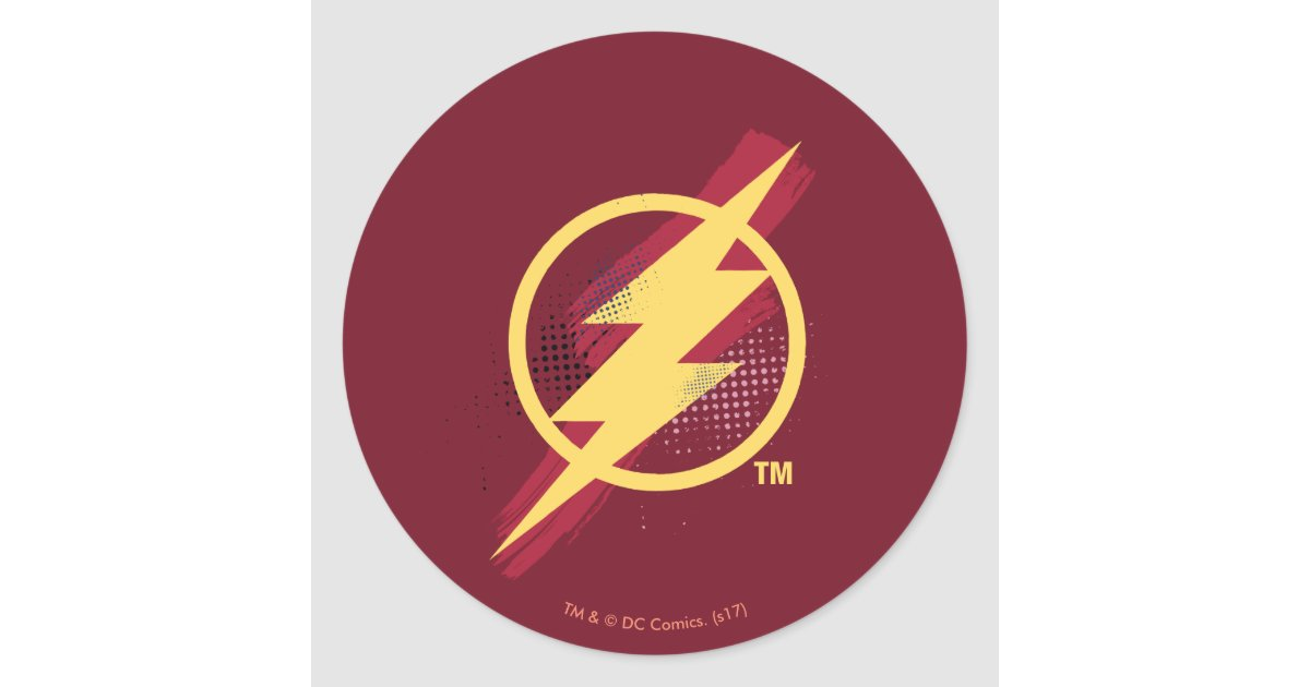 Justice League Brush Halftone Flash Symbol Classic Round Sticker Zazzle Com I created a new flash file, drop a dynamictext, convert this dynamictext to a symbol called textbox1. justice league brush halftone flash symbol classic round sticker zazzle com