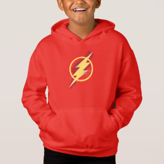 Justice League | Brush & Halftone Flash Symbol Hoodie