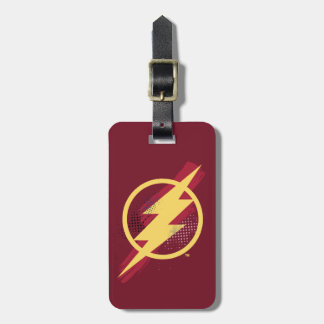 Justice League | Brush & Halftone Flash Symbol Luggage Tag