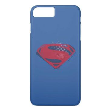 Justice League | Brush & Halftone Superman Symbol iPhone 8 Plus/7 Plus Case