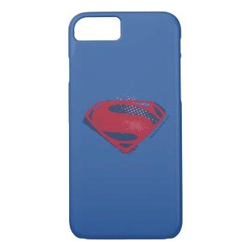 Justice League | Brush & Halftone Superman Symbol iPhone 8/7 Case
