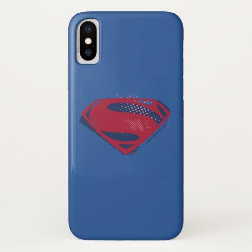 Justice League | Brush & Halftone Superman Symbol iPhone X Case