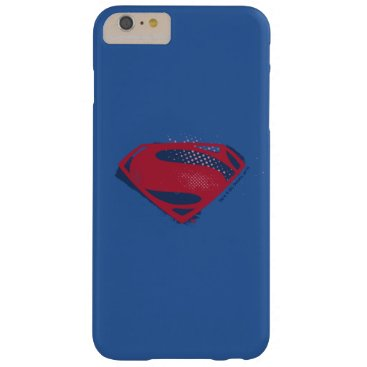 Justice League | Brush & Halftone Superman Symbol Barely There iPhone 6 Plus Case