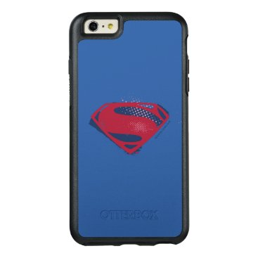 Justice League | Brush & Halftone Superman Symbol OtterBox iPhone 6/6s Plus Case