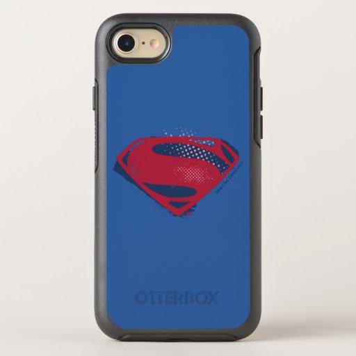 Justice League | Brush & Halftone Superman Symbol OtterBox Symmetry iPhone SE/8/7 Case