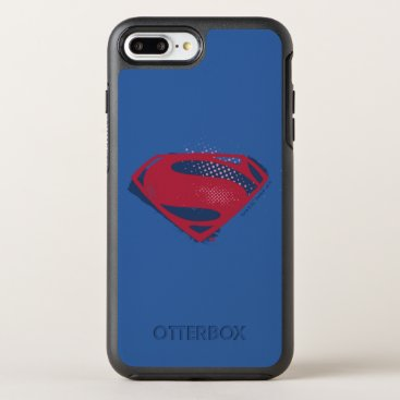 Justice League | Brush & Halftone Superman Symbol OtterBox Symmetry iPhone 8 Plus/7 Plus Case