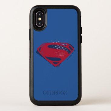 Justice League | Brush & Halftone Superman Symbol OtterBox Symmetry iPhone X Case
