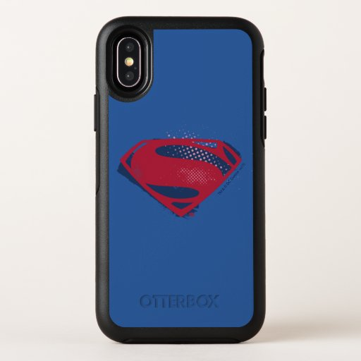 Justice League | Brush & Halftone Superman Symbol OtterBox Symmetry iPhone X Case