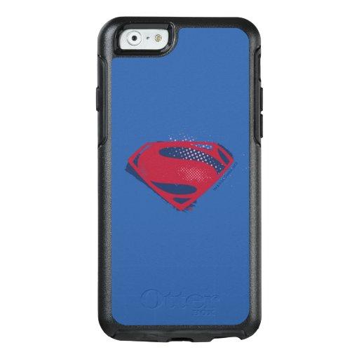 Justice League | Brush & Halftone Superman Symbol OtterBox iPhone 6/6s Case