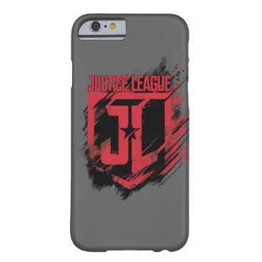 Justice League   Brushed Paint JL Shield Barely There iPhone 6 Case