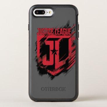 Justice League   Brushed Paint JL Shield OtterBox Symmetry iPhone 8 Plus/7 Plus Case