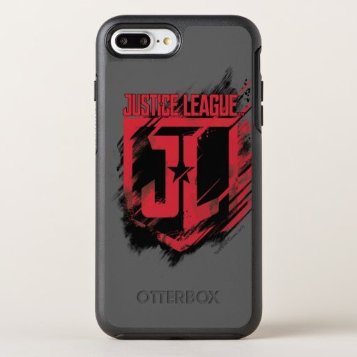 Justice League | Brushed Paint JL Shield OtterBox Symmetry iPhone 8 Plus/7 Plus Case