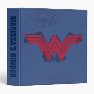 Justice League | Brushed Wonder Woman Symbol 3 Ring Binder