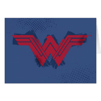 Justice League   Brushed Wonder Woman Symbol Card