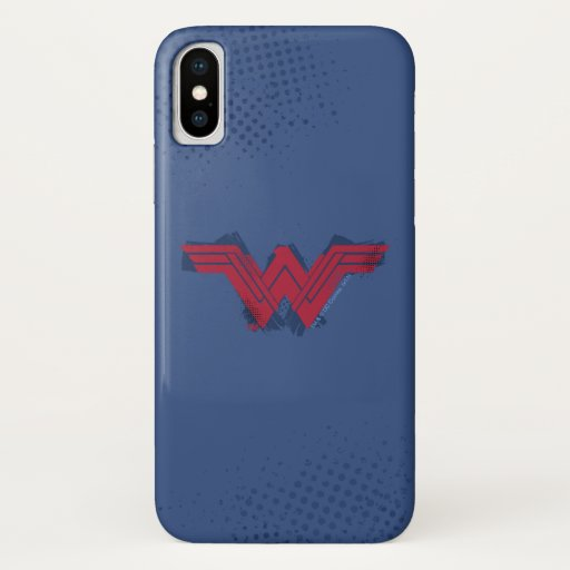 Justice League | Brushed Wonder Woman Symbol iPhone X Case