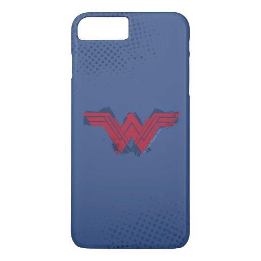 Justice League | Brushed Wonder Woman Symbol iPhone 8 Plus/7 Plus Case