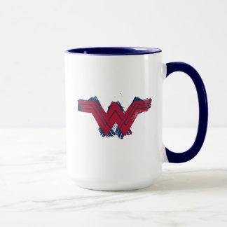 Justice League | Brushed Wonder Woman Symbol Mug