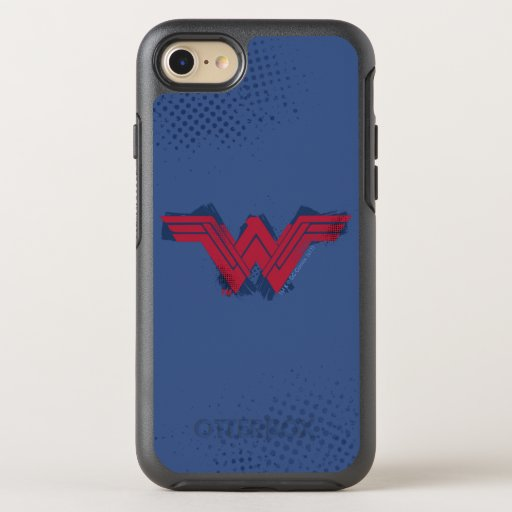 Justice League | Brushed Wonder Woman Symbol OtterBox Symmetry iPhone SE/8/7 Case