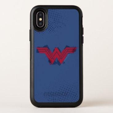 Justice League   Brushed Wonder Woman Symbol OtterBox Symmetry iPhone X Case