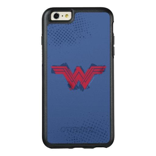 Justice League | Brushed Wonder Woman Symbol OtterBox iPhone 6/6s Plus Case