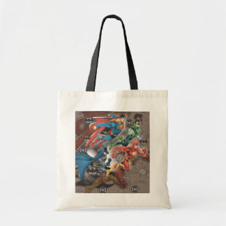 Justice League Collage Tote Bag