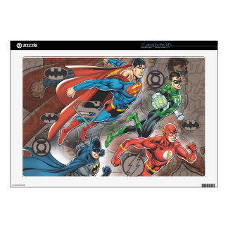"Justice League Collage Decal For 17"" Laptop"