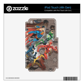 Justice League Collage iPod Touch 4G Decal