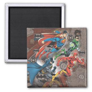 Justice League Collage Magnet