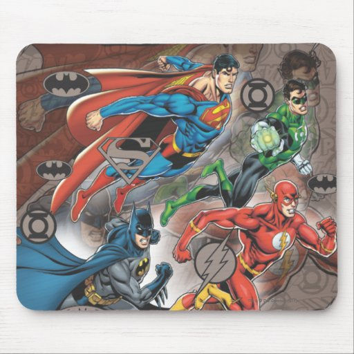 Justice League Collage Mouse Pad