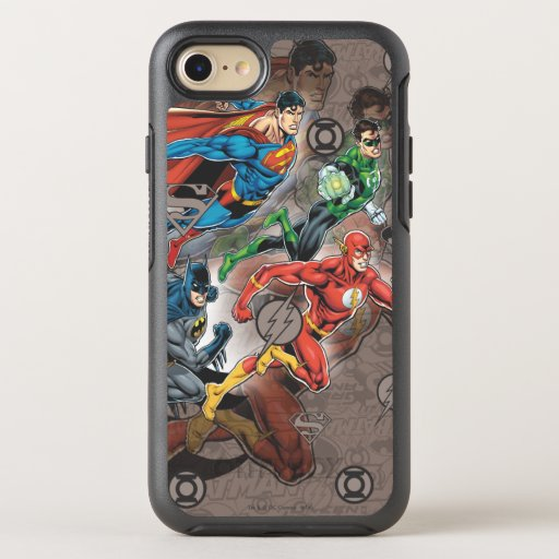 Justice League Collage OtterBox Symmetry iPhone SE/8/7 Case