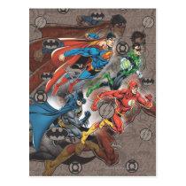 justice league, dc comic books, dc comics, Postcard with custom graphic design