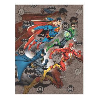 Justice League Collage Postcard