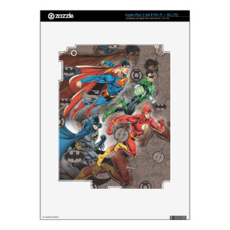 Justice League Collage iPad 3 Decals