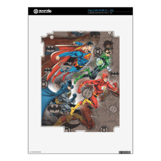 Justice League Collage Decals For The iPad 2