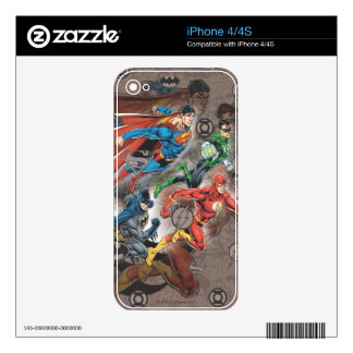 Justice League Collage Skins For iPhone 4S