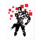 Justice League | Cyborg Digital Noir Pop Art Postcard