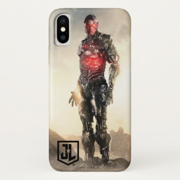 Justice League   Cyborg On Battlefield iPhone X Case