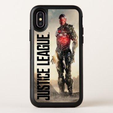 Justice League   Cyborg On Battlefield OtterBox Symmetry iPhone X Case