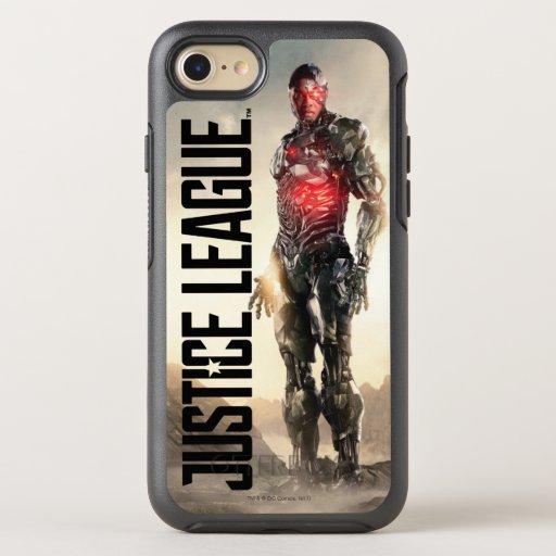 Justice League | Cyborg On Battlefield OtterBox Symmetry iPhone SE/8/7 Case