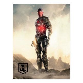Justice League | Cyborg On Battlefield Postcard