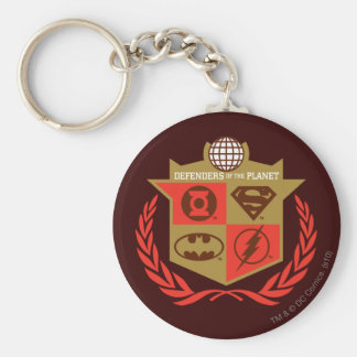 Justice League Defenders of the Planet Basic Round Button Keychain